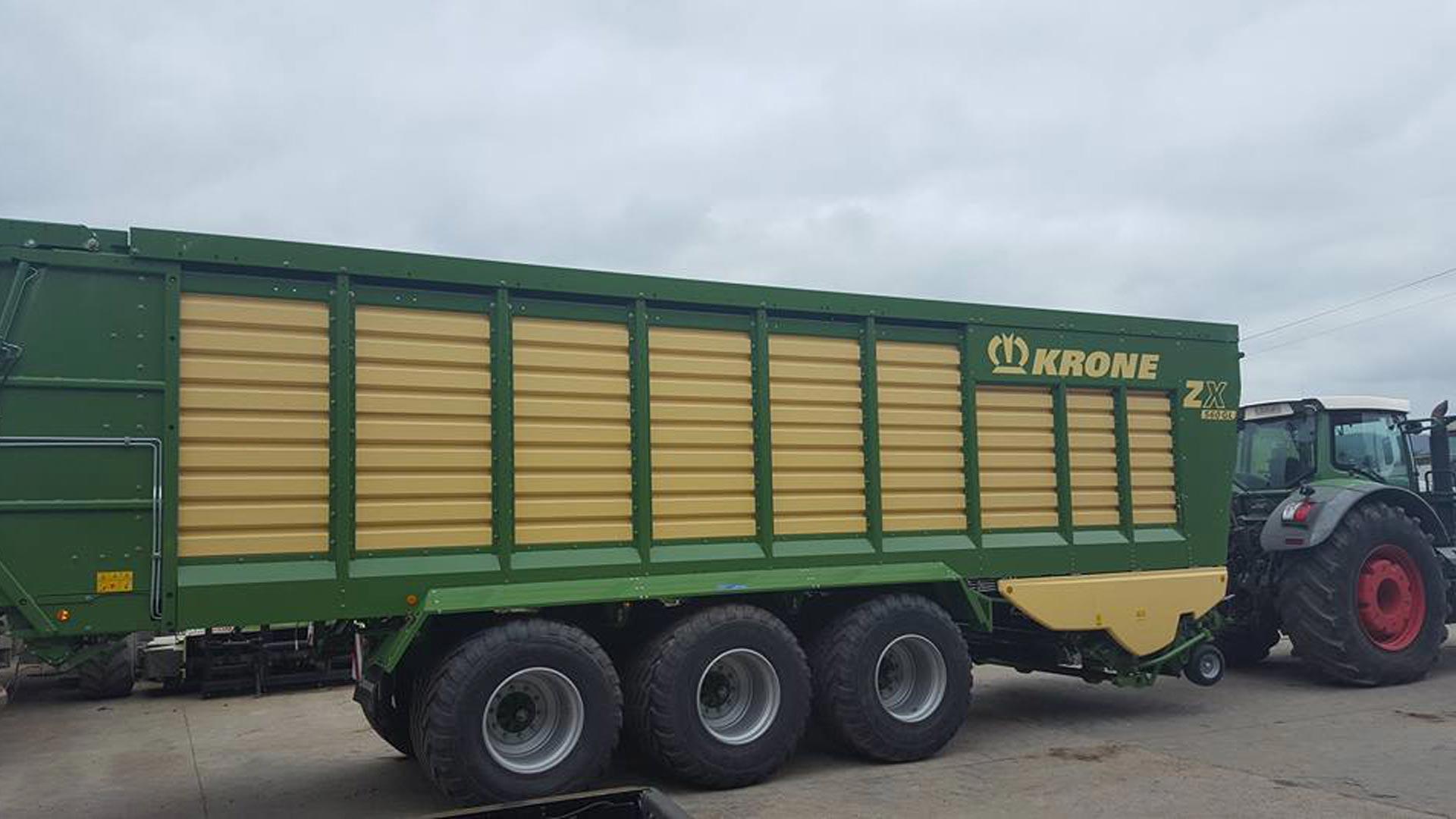 Remolques picadores KRONE ZX 1 agrícolas